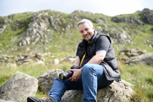 James my partner enjoying a day out in Wales filming for the M&R Welsh Hills Challenge